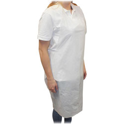 Impact Disposable Apron, Polyethylene, 1 mil, 28 in x 46 in, 1000/CT, White