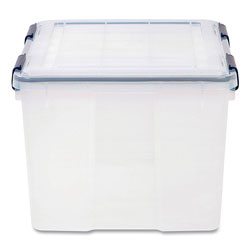 Iris WEATHERTIGHT Latching Flat Lid Storage Box, 11.5 gal, 15.7 in x 19.7 in x 11.7 in, Clear