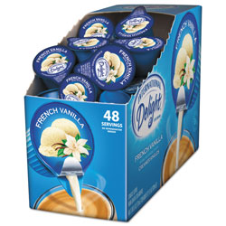 International Delight Flavored Liquid Non-Dairy Coffee Creamer, French Vanilla, 0.4375 oz Cup, 48/Box