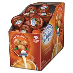 International Delight Flavored Liquid Non-Dairy Coffee Creamer, Hazelnut, 0.4375 oz Cup, 48/Box