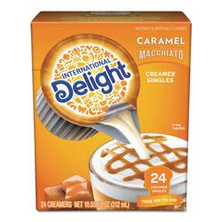 International Delight Flavored Liquid Non-Dairy Coffee Creamer, Caramel Macchiato, Mini Cups, 24/Box