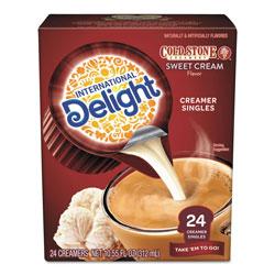 International Delight Flavored Liquid Non-Dairy Creamer, Coldstone Sweet Cream, Mini Cups, 24/Box