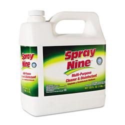 Spray Nine® Heavy Duty Cleaner/Degreaser/Disinfectant, Citrus Scent, 1 gal Bottle, 4/Carton