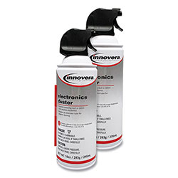 Innovera Compressed Air Duster Cleaner, 10 oz Can, 2/Pack