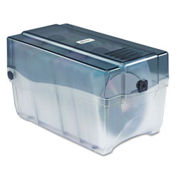 Innovera CD/DVD Storage Case, Holds 150 Discs, Clear/Smoke