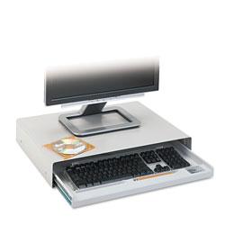 Innovera Standard Desktop Keyboard Drawer, 20.63w x 10d, Light Gray