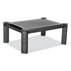 Innovera Large Monitor Stand with Cable Management, 12.99 in x 17.1 in, Black