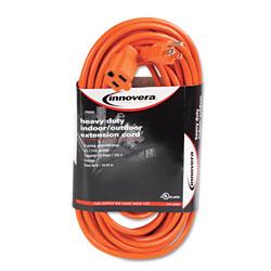 Innovera Indoor/Outdoor Extension Cord, 50ft, Orange