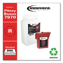 Innovera Compatible Red Ink, Replacement For Pitney Bowes 7970, 800 Page Yield
