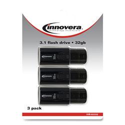Innovera USB 3.0 Flash Drive, 32 GB, 3/Pack