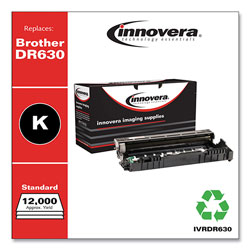 Innovera Remanufactured Black Drum Unit, Replacement for Brother DR630, 12,000 Page-Yield