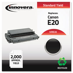 Innovera Remanufactured Black Toner Cartridge, Replacement for Canon E20 (1492A002AA), 2,000 Page-Yield