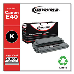 Innovera Remanufactured Black High-Yield Toner Cartridge, Replacement for Canon E40 (1491A002AA), 4,000 Page-Yield