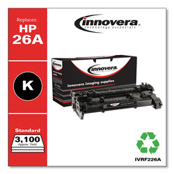 Innovera Remanufactured Black Toner Cartridge, Replacement for HP 26A (CF226A), 3,100 Page-Yield