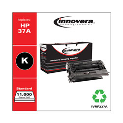 Innovera Remanufactured Black Toner Cartridge, Replacement for HP 37A (CF237A), 11,000 Page-Yield