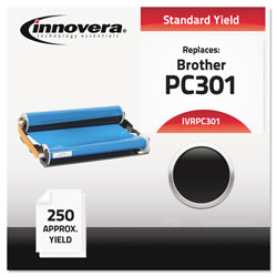 Innovera Compatible PC301 Thermal Transfer Print Cartridge, 250 Page-Yield, Black