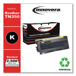 Innovera Remanufactured Black Toner Cartridge, Replacement for Brother TN350, 2,500 Page-Yield