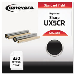 Innovera Compatible UX5CR (UX5CR) Thermal Transfer Print Cartridge, 165 Page-Yield, Black