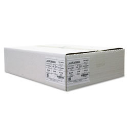 Jaguar Plastics Repro Low-Density Can Liners, 60 gal, 2 mil, 38 in x 58 in, Black, 100/Carton
