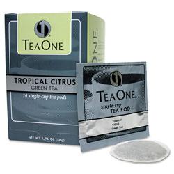 Java One™ Tea Pods, Tropical Citrus Green, 14/Box