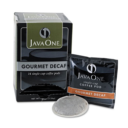 Java One™ Coffee Pods, Colombian Decaf, Single Cup, Pods, 14/Box