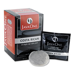 Java One™ Coffee Pods, Estate Costa Rican Blend, Single Cup, 14/Box