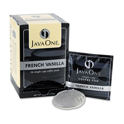 Java One™ Coffee Pods, French Vanilla, Single Cup, 14/Box