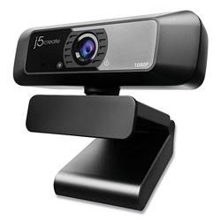 J5 Create JVCU100 HD Webcam, 1920 pixels x 1080 pixels, 2 Mpixels, Black