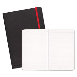 Black N' Red Black Soft Cover Notebook, Wide/Legal Rule, Black Cover, 8.25 x 5.75, 71 Sheets
