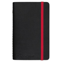 Black N' Red Black Soft Cover Notebook, Wide/Legal Rule, Black Cover, 5.5 x 3.5, 71 Sheets