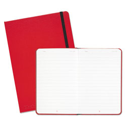 Black N' Red Red Casebound Hardcover Notebook, Wide/Legal Rule, Red Cover, 8.25 x 5.75, 71 Sheets