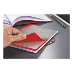 Black N' Red Flexible Casebound Notebooks, 1 Subject, Wide/Legal Rule, Black/Red Cover, 11.75 x 8.38, 72 Sheets