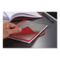 Black N' Red Flexible Casebound Notebooks, 1 Subject, Wide/Legal Rule, Black/Red Cover, 9.88 x 7, 72 Sheets