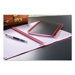 Black N' Red Twin Wire Poly Cover Notebook, Wide/Legal Rule, Black Cover, 11.75 x 8.25, 70 Sheets