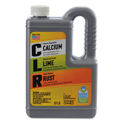 CLR Calcium, Lime and Rust Remover, 28 oz Bottle, 12/Carton