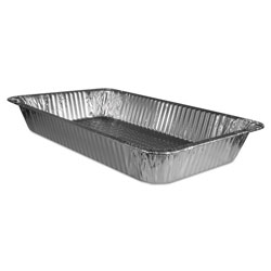 Handi-Foil Aluminum Containers, Full-Size Steam Table, 343 Oz,12 3/4x20 3/4x3 3/16,50/ctn