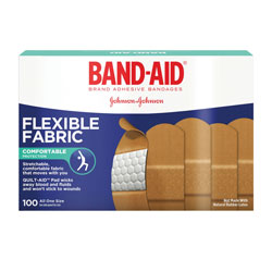 Band Aid Flexible Fabric Adhesive Bandages, 1 in x 3 in, 100/Box