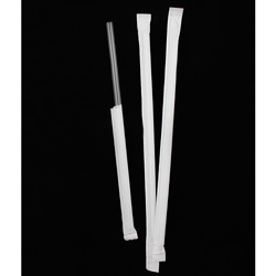 Chesapeake 7.75 in Translucent Jumbo Straw With Paper Wrapped, Case of 2,000