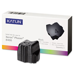 Katun Compatible 108R00604 Solid Ink Stick, 3400 Page-Yield, Black, 3/BX