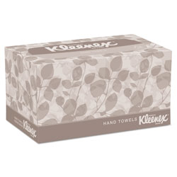 Kleenex Hand Towels, Pop-Up Box, Cloth, 9 X 10 ½, 120/Box, 18 Boxes/Carton
