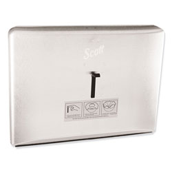 Scott® Personal Seat Toilet Seat Cover Dispenser, Stainless Steel, 16.6 x 12.3 x 2.5