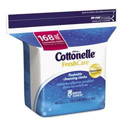 Cottonelle® Fresh Care Flushable Cleansing Cloths, White, 5x7 1/4, 168/Pack,8 Pack/Carton