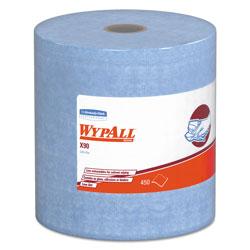 WypAll* X90 Cloths, Jumbo Roll, 11 1/10 x 13 2/5, Denim Blue, 450/Roll, 1 Roll/Carton