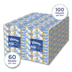 Kleenex White Facial Tissue, 2-Ply, White, 100 Sheets/Box, 10 Boxes/Bundle, 6 Bundles/Carton