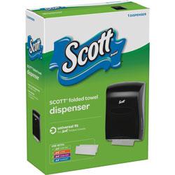 Scott® Folded Towel Dispenser, Universal Fit, Black