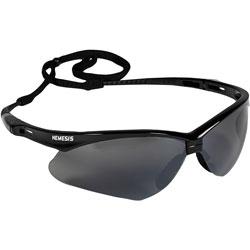 Jackson Safety* V30 Nemesis Safety Glasses (25688), Smoke Mirror with Black Frame