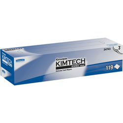 Kimtech* Delicate Task Wipers, 3-Ply, 119 Sheets, 15BX/CT, White