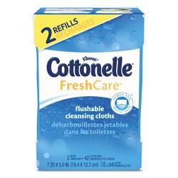 Cottonelle® Fresh Care Flushable Cleansing Cloths, White, 3.73 x 5.5, 84/Pack, 8 Pk/Ctn