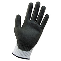 KleenGuard* G60 ANSI Level 2 Cut-Resistant Gloves, White/Blk, 220 mm Length, Small, 12 Pairs