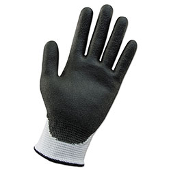 KleenGuard* G60 ANSI Level 2 Cut-Resistant Glove, White/Blk, 240mm Length, Large/SZ 9, 12 PR